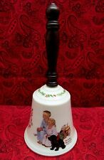 Vintage Collectible Gorham Norman Rockwell Porc Bell 1985 Yuletide Reflections