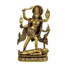 Brass Statue Idol Supreme Goddess Maa Kali Mahakali For Home Temple Mandir