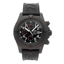 Breitling Super Avenger BlackSteel Men's PVD Steel Watch On Rubber M1337010/B930