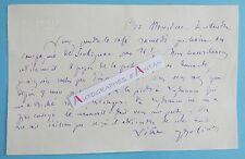 L.A.S Joseph JOLINON Ecrivain Lyon Lugdunum La Clayette Briant Lettre + Dessin