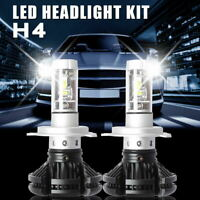2X S1 H1 LED Headlight Conversion Kit 100W 16000LM 6000K White Fog Lamp Fanless