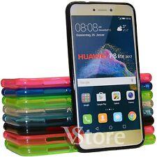 Cover Custodia Per Huawei P8 Lite 2017 in Silicone Gel TPU Retro Opaco