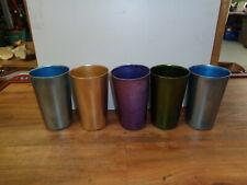 VINTAGE Bascal Aluminum Tumbler Cup Lot of 5 Assorted Colors (sa)