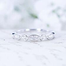 Fashion 18K Rose Gold White Sapphire Ring Wedding Women Jewelry Gifts Size 5-10