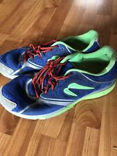 Men's Newton Running Shoes Size 11.5 Royal Blue And Green Used