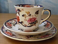 Mason's Ironstone Blue Mandalay  Cup , Saucer and small plate Trio =1