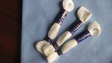 mercerie ancienne 3 échevettes coton à broder spécial n°40 Cartier-Bresson neige