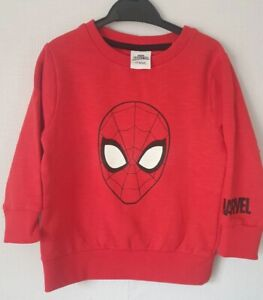Boys Spiderman Jumper size 6-7 years Red (a)