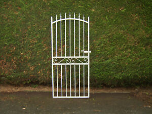 Iron arch top gate for 3 ft opening fully galvanized stands 6 ft tall  L/H