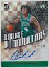 2019-20 Panini Donruss Celtics Carsen Edwards Rookie Dominators Gold Auto 06/10