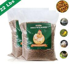 New listing 22lbs Bulk Dried Mealworms Non Gmo Chicken Hen Treats Duck Organic Feed Birds