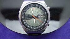 Vintage SEIKO 7015 6010 temps Sonar Flyback très rare de la 1970,s N4
