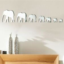 Elephant Modern Acrylic Plastic Mirror Wall Home Decal Decor Vinyl Art Sticker