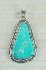 Navajo Turquoise & Sterling Silver Pendant - Garrison Boyd