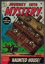 Atlas MARVEL Comics 4.0 VG Journey into mystery 22 1955 Golden HAUNTED HOUSE