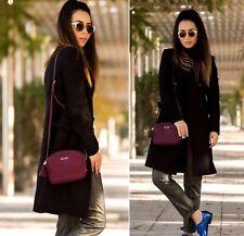Zara habillé noir laine élégant ajusté Manteau avec boutons plissé XS EXTRA