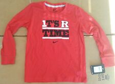Nike Boys Rutgers Scarlet Knights It'S R Time Long Sleeve Tee