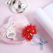72 pcs Red Faux Pearl Flowers Wedding Party Favors Supplies Decorations Sale