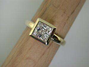 Gelbgoldring mit Zirkonia  Gr.54  ungetragen aus Juwelierauflösung