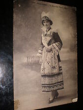 Old printed postcard woman Pent-Aven Quimper France c1900s