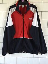 MENS URBAN VINTAGE RETRO PUMA ATHLETIC TRACK TOP JACKET SIZE XL #13