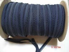 10**yards.NAVY 1/4 inch Small Lingerie Trim Elastic