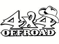 4x4 OFFROAD Vinyl Design Wall Car Truck Vehicle Decal Sticker Cowboy Hat