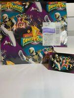 Mighty Morphin Power Rangers 1995 Vintage Hallmark Gift Wrap NIP With Card