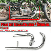 Silencieux Échappement Système Pipes Pour Yamaha Virago V star XV125 XV250