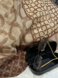 Coach Signature Eye Glass Frames, Scarf Gift With Purchase
