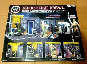 2008 JAKKS PACIFIC WWE wrestling Backstage Brawl CRASH & BASH PLAYSET NEW BONUS