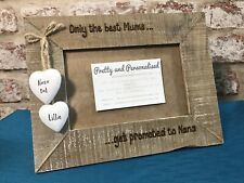 Best Mums To Nan Nana Grandma Nanny Granny Personalised Driftwood Photo Frame