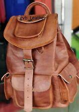 Laptop Travel  Rucksack Vintage Men's Backpack Leather Messenger Bags Satchel
