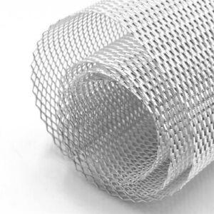 "40""x13"" Silver Aluminium Car Grille Mesh Vent Grill  0.16""x0.31"" Hole Universal"