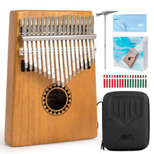 More details for thumb piano kalimba finger piano 17 key for kids adult w/bag tuning hammer aklot