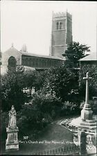 Suffolk WOODBRIDGE St Marys Church & War Memorial RP JE.265
