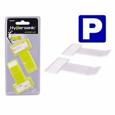 Hypersonic Car Windshield Ticket Clip Permit Holder Clear 2PCS