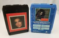 Melissa Manchester 8 Track Tapes Set of 2 Better Days & Happy Endings Self Title