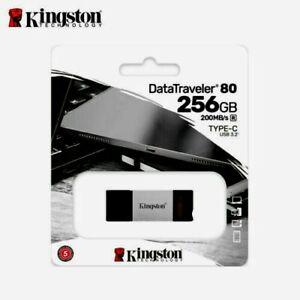 Kingston DataTraveler 80 256G Flash Drive USB Type-C OTG On-The-Go with Tracking