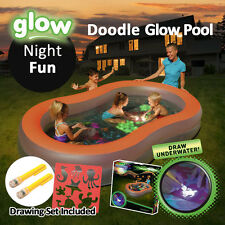 BESTWAY 2.8x1.57M Inflatable Doodle Glow Pool Family Kid Summer Night Fun