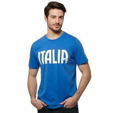 Puma FIGC Italia Italy Graphic Tee Team Power Blue T-Shirt Men Size XL Azzurri