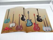 Vintage 1990's Jerry Jones Guitar Color Catalog Brochure Bass Longhorn Baritone