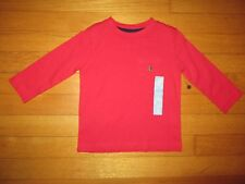NWT baby Gap Long Sleeve Red Playtime Favorites Shirt Size 12-18 Months
