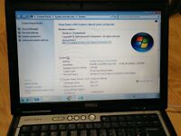 Dell Latitude D630 Core 2 Duo 2GHz 2GB RAM 80GB HDD 14.1'' Win7 Laptop Office