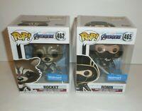 Avengers Endgame Funko Pop Lot of 2 Figures Rocket + Ronin Walmart Exclusives