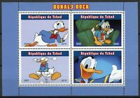 Chad Disney Stamps 2019 MNH Donald Duck Cartoons Animation 4v M/S II