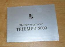 Triumph 2000 Brochure 1964 - Saloon & Estate