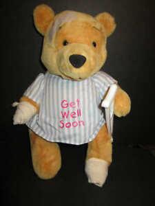 "Vintage Walt Disney Company Winnie the Pooh Get well soon bear Plush stuffed 15"""