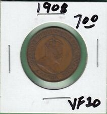 1908 Canada Large Cent Coin VF//EF NICE GRADE RJ447,778