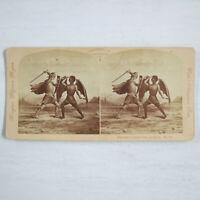 1877 Antique Original F.G. Weller Allegorical 674 Stereo Viewer Card Super Rare